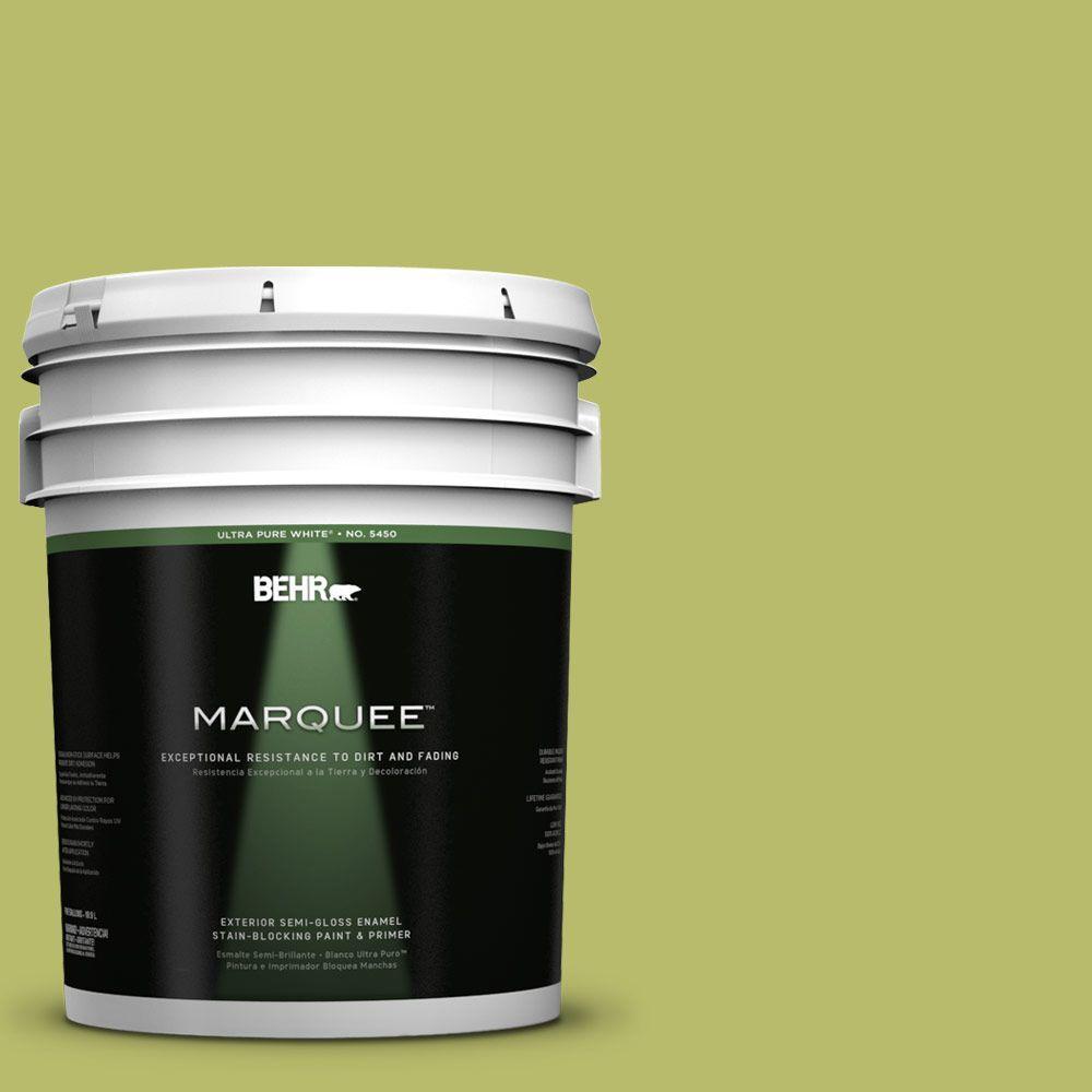 5-gal. #P360-5 Citrus Peel Semi-Gloss Enamel Exterior Paint