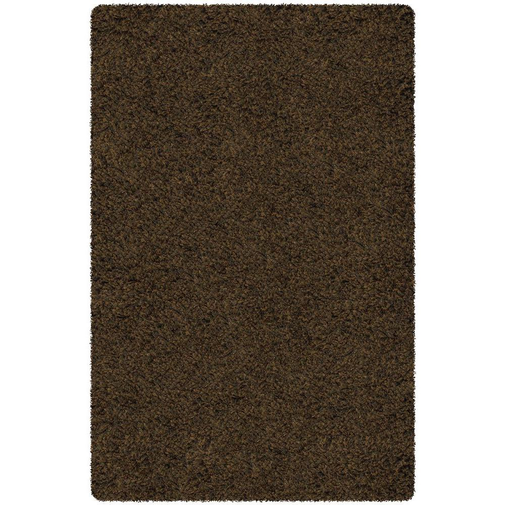 Core Shag Brown/Dark Brown 7 ft. 9 in. x 10 ft.
