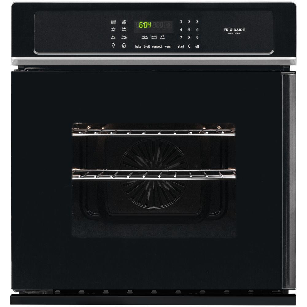 27 in. Single Electric Swing-Door Wall Oven Self-Cleaning with Convection in