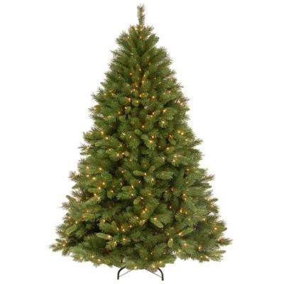 7-1/2 ft. Winchester Pine Hinged Artificial Christmas Tree with 500 Clear Lights