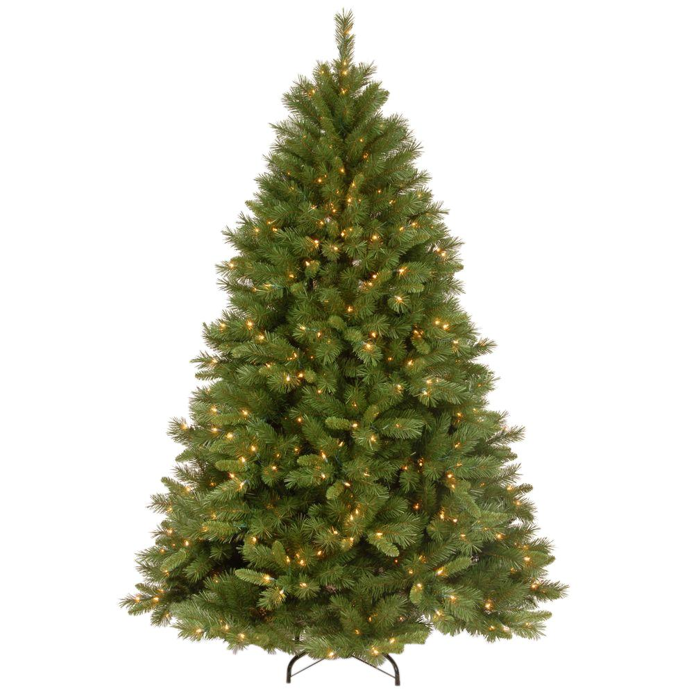 National Tree Company 7-1/2 ft. Winchester Pine Hinged Artificial ...