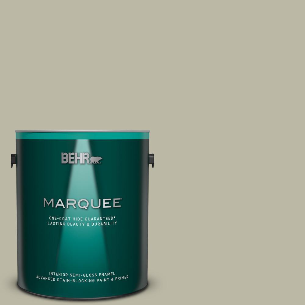 Behr Marquee 1 Gal 400f 4 Restful Semi Gloss Enamel Interior Paint