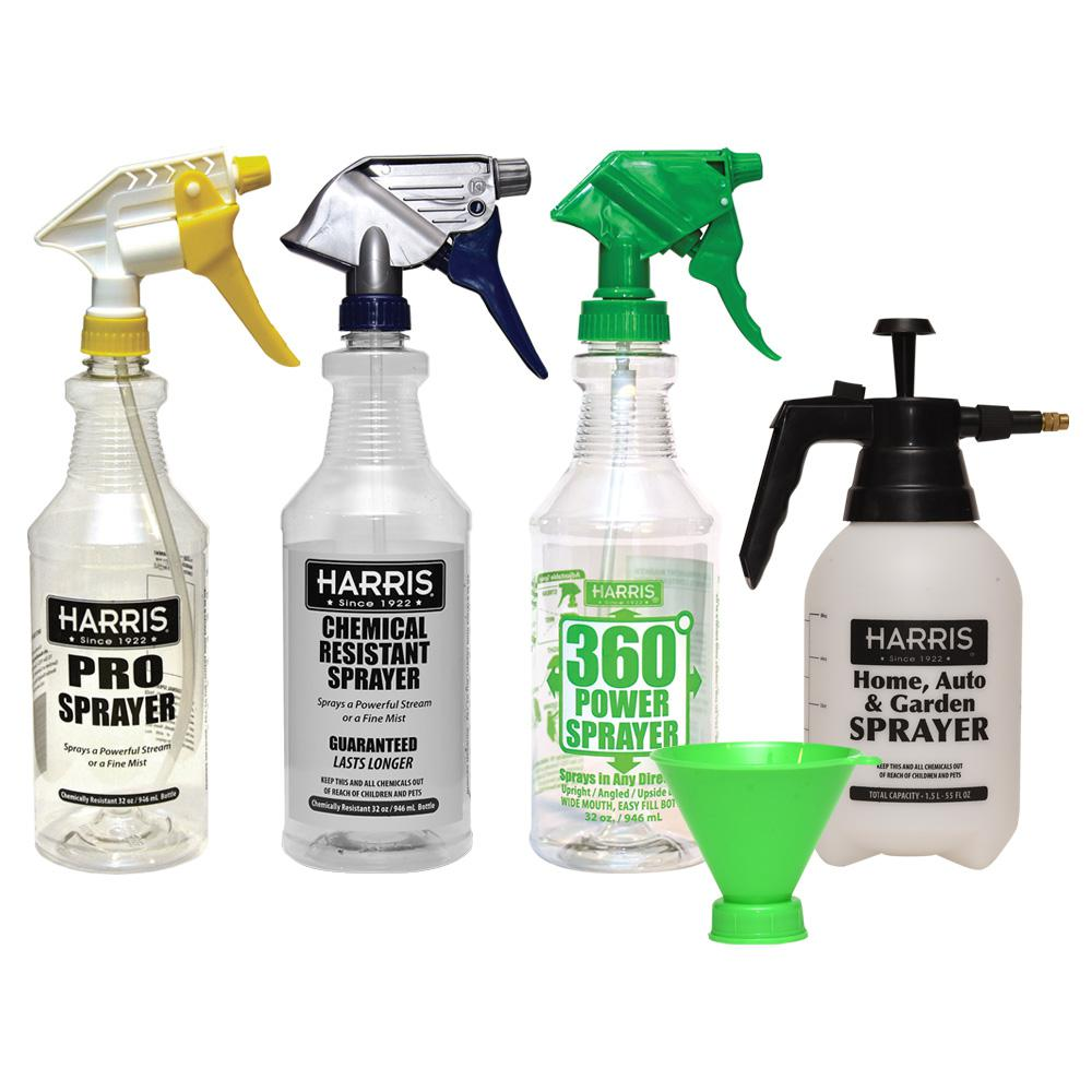 Harris Harris Three 32 oz. and One 55 oz. Professional Spray Bottle Variety Pack Kit (Pack of 4)