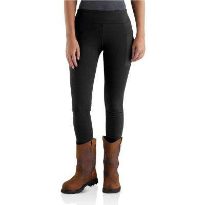 Women's Tall Medium Black Nylon/Spandex Force Lightweight Utility Legging Pant