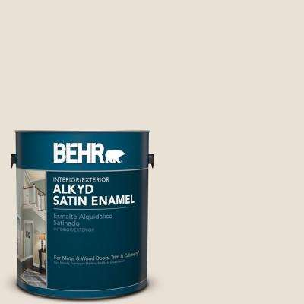 1 gal. #YL-W14 Off White Satin Enamel Alkyd Interior/Exterior Paint