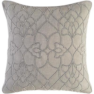 Romilly Grey Graphic Polyester 18 in. x 18 in. Throw Pillow