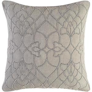 Romilly Grey Graphic Polyester 20 in. x 20 in. Throw Pillow