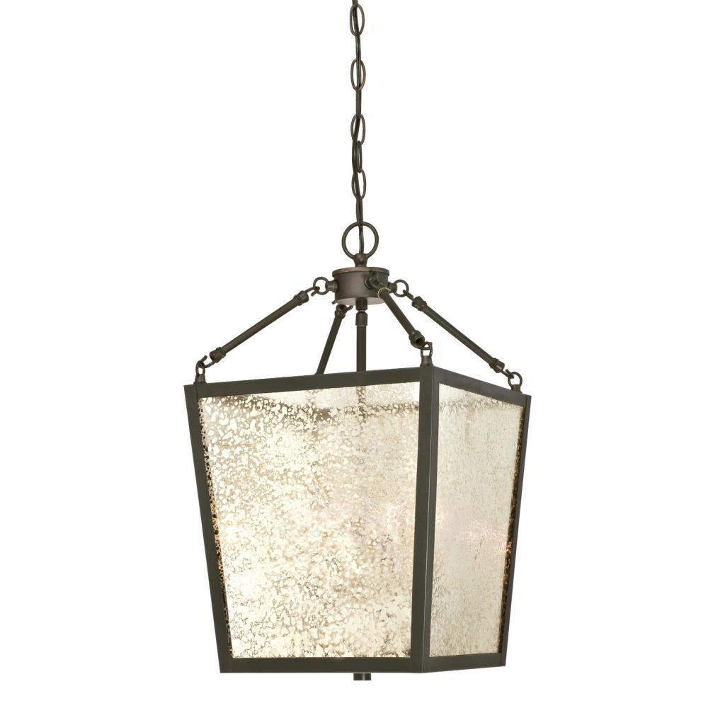 Westinghouse Everdale 4 Light Oil Rubbed Bronze Chandelier With Antique Mirror Glass