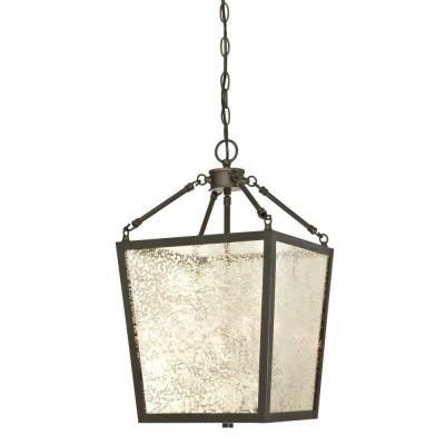 Everdale 4-Light Oil Rubbed Bronze Chandelier with Antique Mirror Glass