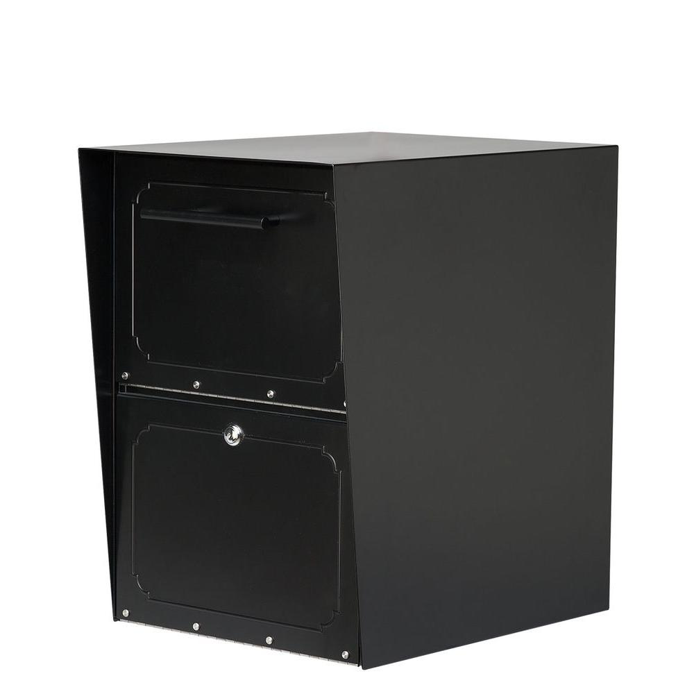 Architectural Mailboxes Oasis Black Post-Mount or Column-Mount Locking Drop Box