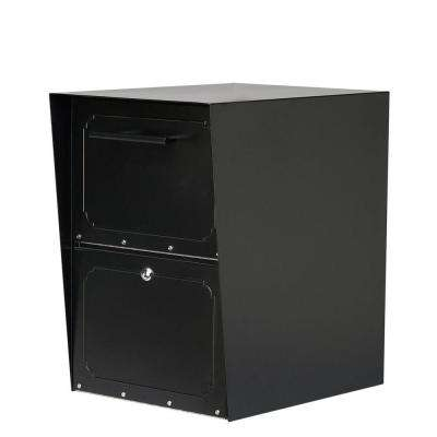 Oasis Black Post-Mount or Column-Mount Locking Drop Box
