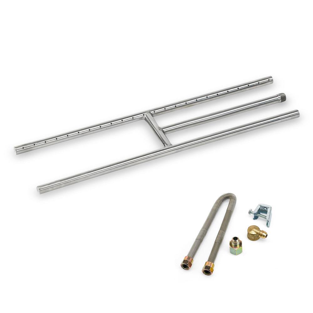 24 in. x 6 in. Stainless Steel H-Burner