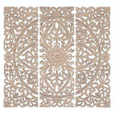 Jaxon 48 in. H x 16 in. W Wood Wall Plaque (Set of 3)