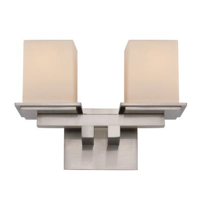 Fusion II 2-Light Brushed Nickel Sconce
