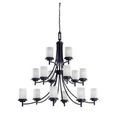 Winnetka 15-Light Blacksmith Multi-Tier Chandelier