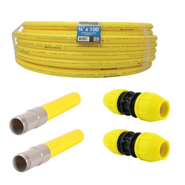 Underground 3/4in IPS Repair Kit (1) Roll of 3/4 in x 100ft Pipe, (2) 3/4 in Couplers and (2) 3/4 in Transition Fittings