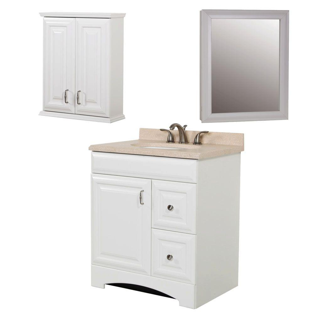 St. Paul Providence Bath Suite with 30 in. Vanity with Vanity Top in OJ and Medicine Cabinet in White