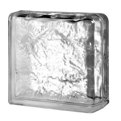 Cortina 7.75 in. x 7.75 in. x 3.875 in. Ice Pattern Double End Glass Block