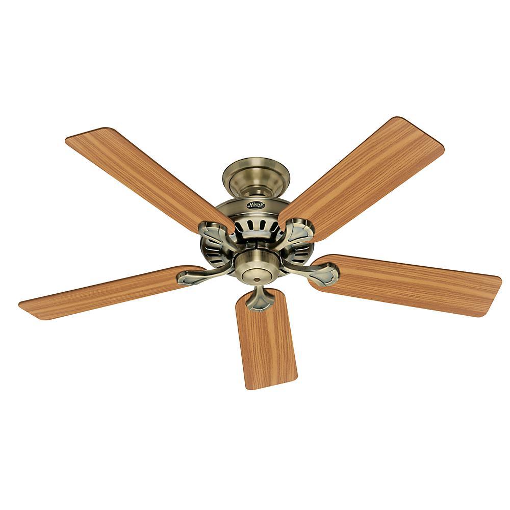 Builder's Select 52 in. Indoor Antique Brass Ceiling Fan