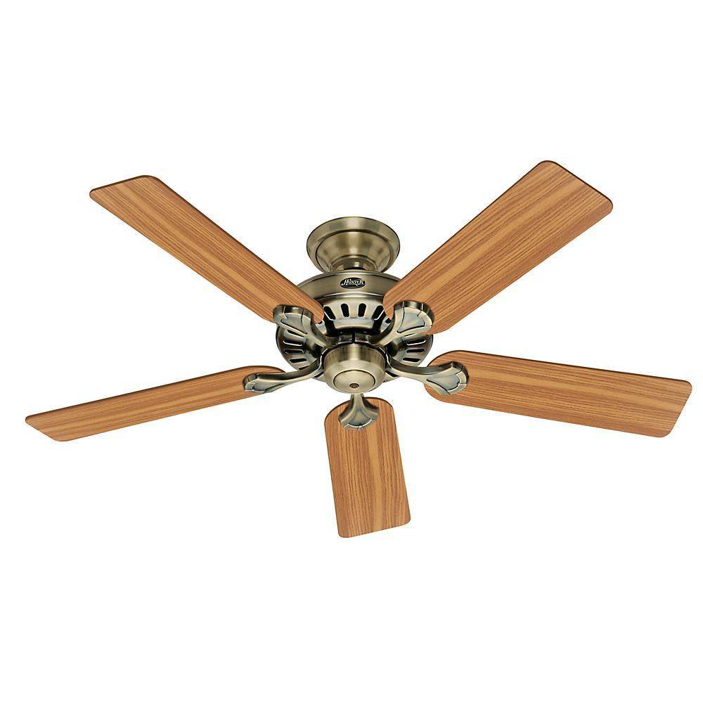 Hunter Ceiling Fan Light Kits Antique Brass: Hunter Low Profile IV 42 In. Indoor Antique Pewter Ceiling