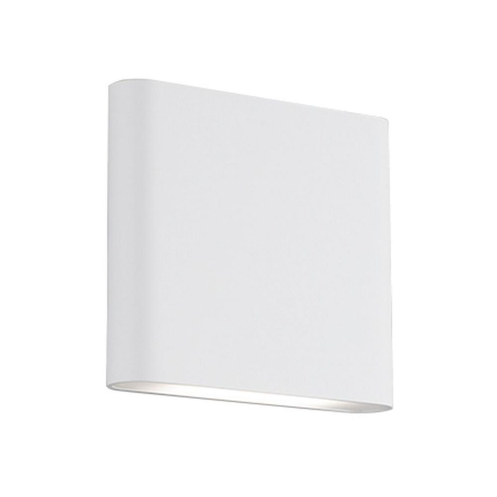 Aurora 60-Watt Equivalence White Integrated LED Sconce