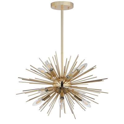 Zadie 12-Light Gold Sputnik Pendant
