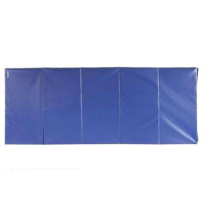 Folding Blue 4 ft. x 10 ft. x 2 in. 18 oz. Vinyl and Foam Gymnastics Mat