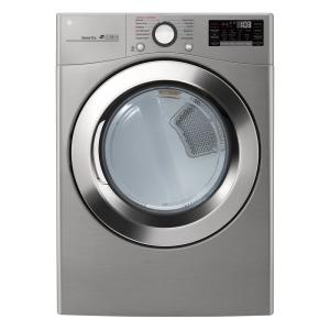 7.4 cu.ft. Ultra Large Capacity Electric Dryer with Sensor Dry, Turbo Steam and Wi-Fi Connectivity in Graphite Steel