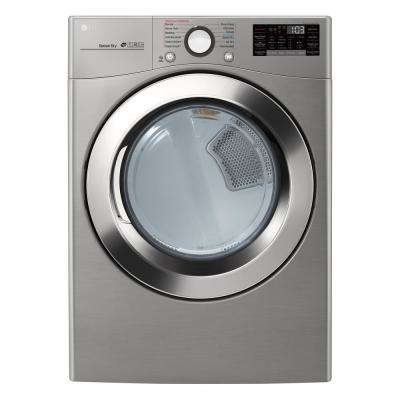 7.4 cu. ft. Ultra Large Capacity Graphite Steel Electric Dryer with Sensor Dry, TurboSteam and Wi-Fi Connectivity