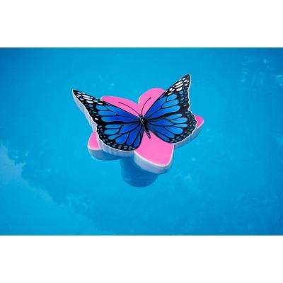 Butterfly Swimming Pool and Spa Chlorine Dispenser in Blue
