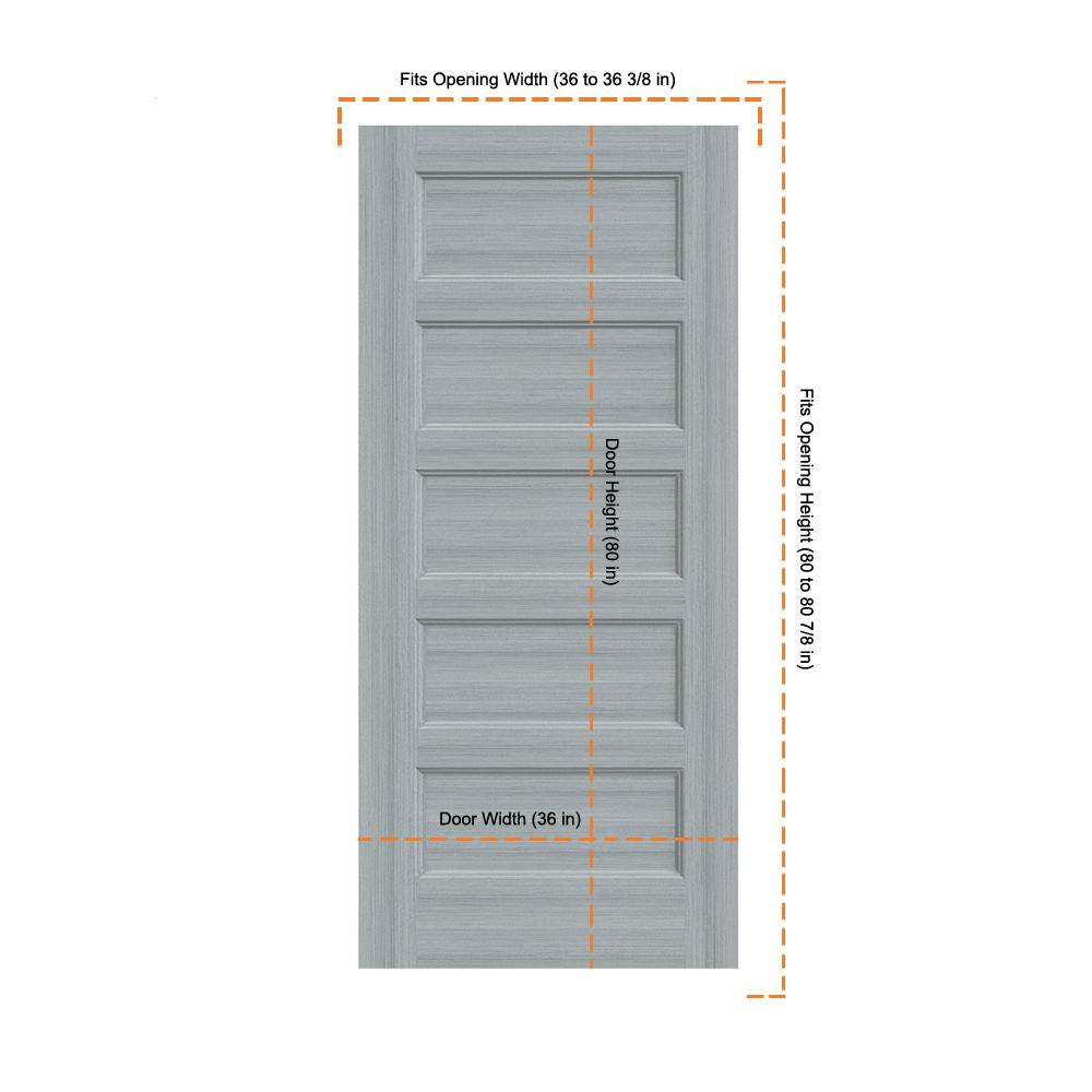 Jeld Wen 36 In X 80 In Conmore Stone Stain Smooth Solid Core Molded Composite Interior Door Slab