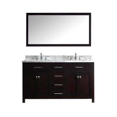 bathroom cabinets double sink. Caroline 60 In. Double Square Basin Bathroom Cabinets Sink I