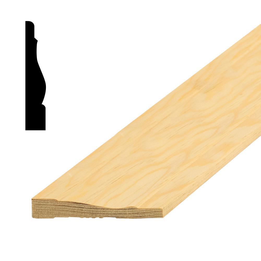 LWM444 5/8 in. x 3-1/4 in. Random Length Solid Pine Casing