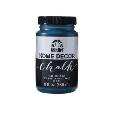 Home Decor 8 oz. Rich Black Ultra-Matte Chalk Finish Paint