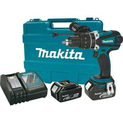 18-Volt LXT Lithium-Ion 1/2 in. Cordless Hammer Driver/Drill Kit with (2) Batteries (4.0Ah), Charger and Hard Case