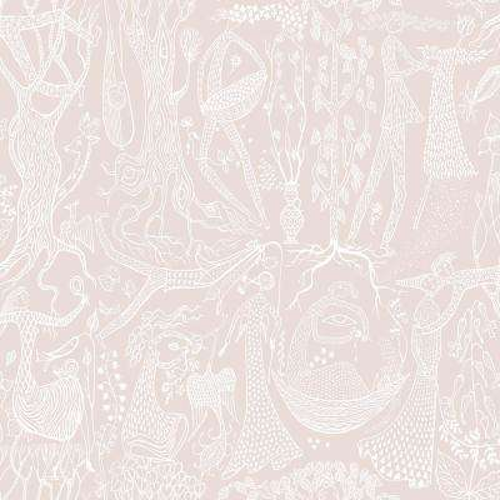 57.8 sq. ft. Poem D Amour Blush Folk Wallpaper
