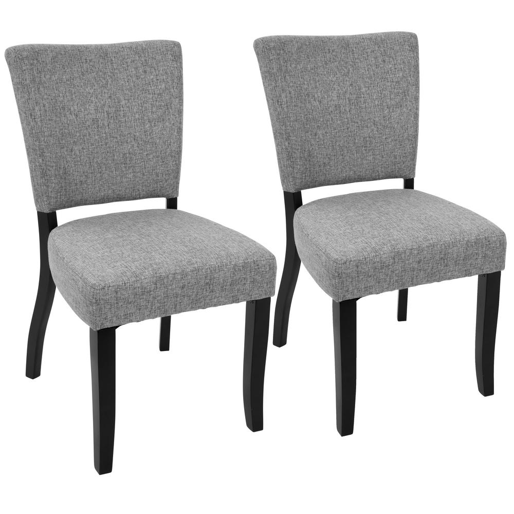 Ordinaire Lumisource Vida Espresso And Light Grey Dining Chair (Set Of 2)