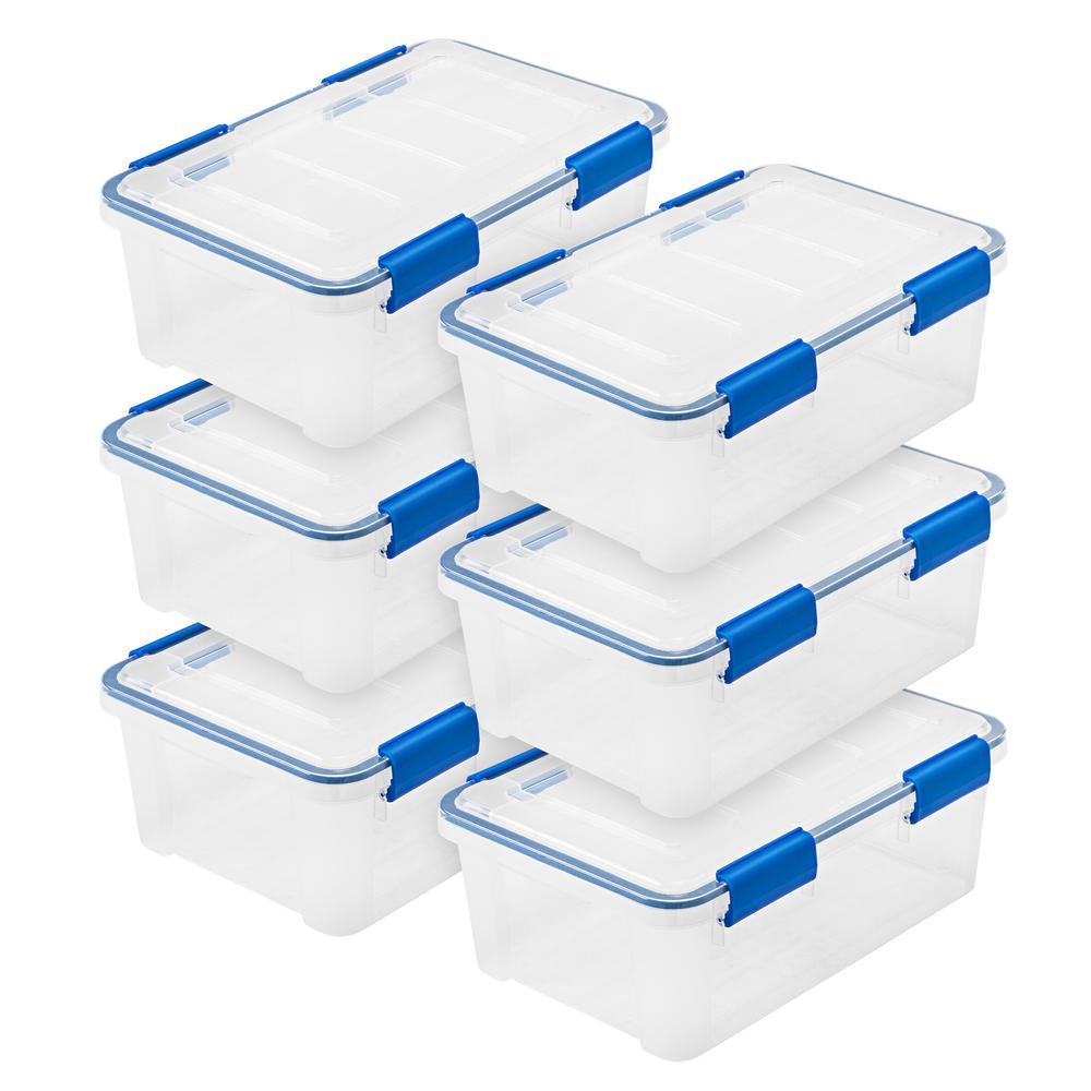 WEATHERTIGHT 16 Qt. Multi-Purpose Storage Box in Clear, (6-Pack)