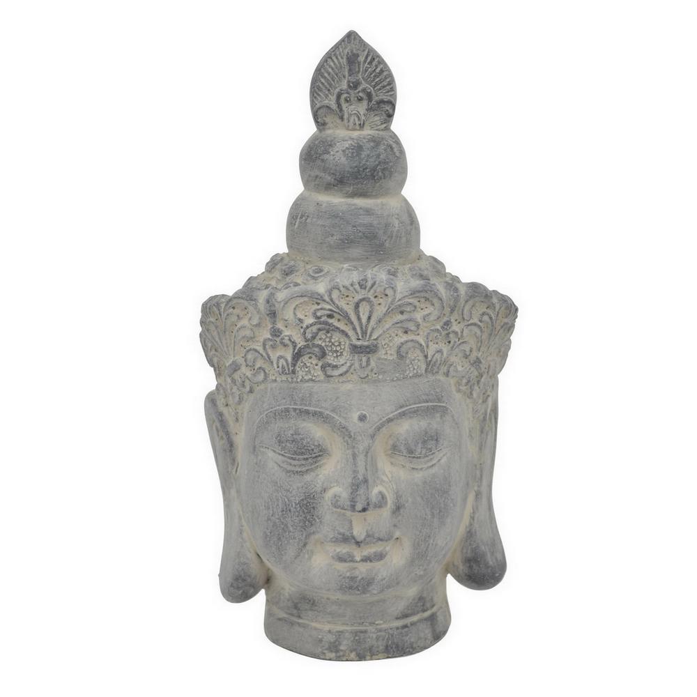 13.5 in. Buddha Face Figurine