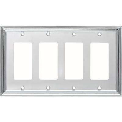 Silverton 4-Gang Decorator, Polished Chrome