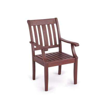 Wales Ergonomic Solid Wood Outdoor Dining Chair