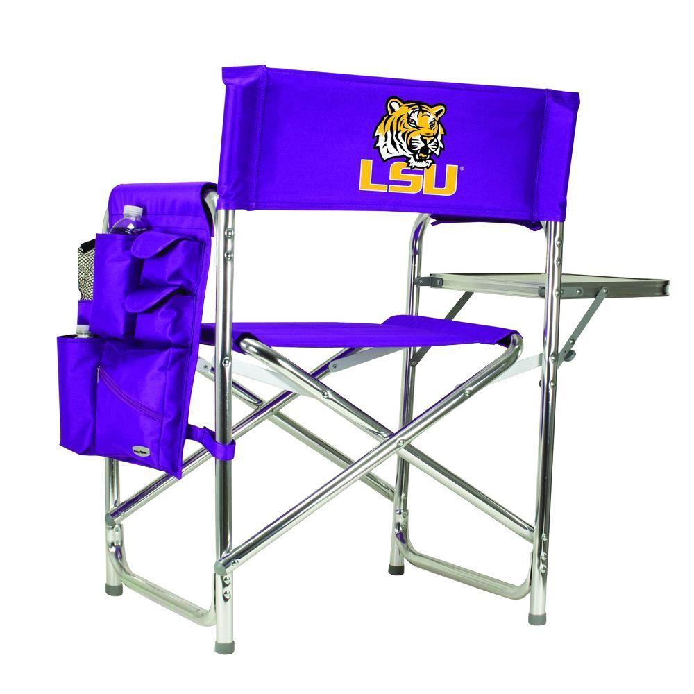 Louisiana State University Purple Sports Chair with Digital Logo