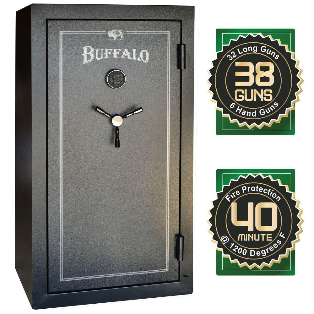 BUFFALO 38-Gun 15.6 cu. ft. Electric Lock Gun Safe with Premium Door Organizer