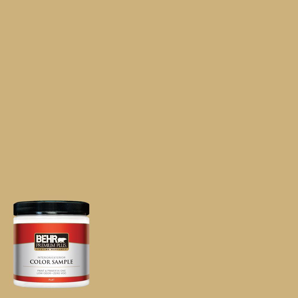 8 oz. #360F-4 Dry Sea Grass Interior/Exterior Paint Sample