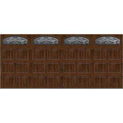 Gallery Collection 16 ft. x 7 ft. 18.4 R-Value Intellicore Insulated Ultra-Grain Walnut Garage Door with Windows