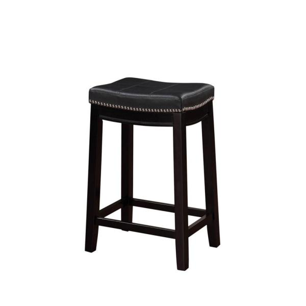 Claridge 26 in. Black Cushioned Counter Stool