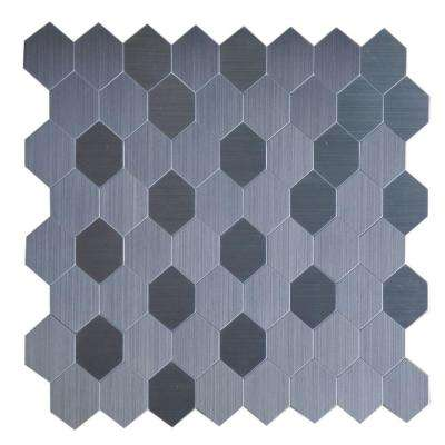 Peel and Stick Metal Wall Tile - 2 in. x 6 in. Tile Sample