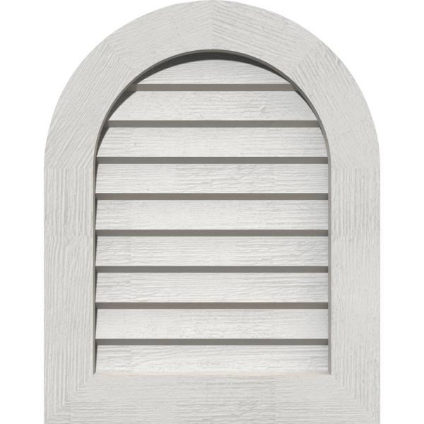 Ekena Millwork 21 X 41 Round Top Primed Rough Sawn Western Red Cedar Wood Gable Louver Vent Non Functional Gvwrt16x3602rdpwr The Home Depot