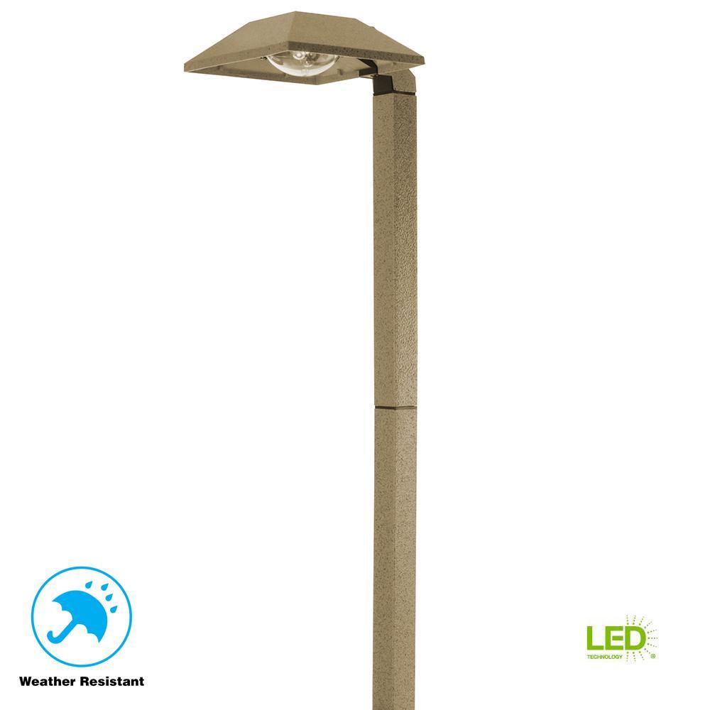 Low-Voltage 2.7-Watt Sand Outdoor Integrated LED Landscape Modern Down Light Path Light