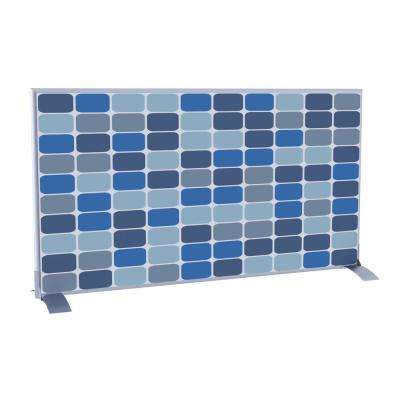 Paperflow easyScreen Horizontal Divider Screen in Blue Squares